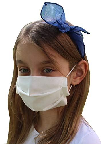 Pack 3x Mascarilla Higiénica Reutilizable UNE 0065 Tela 100% Algodón - Lavable - Niño 6-9 años - Homologada - Hecho en España - Tecnología Cottonblock