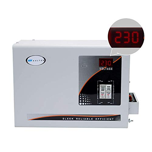 Aulten 5 KVA 90V - 300V Heavy Duty Voltage Stabilizer for Mainline with Changeover MCB/Powers all Home Appliances (Wall Mounted, Digital Display), 1 Year Replacement Guarantee.