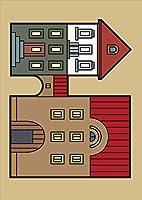igsticker ポスター ウォールステッカー シール式ステッカー 飾り 841×1189㎜ A0 写真 フォト 壁 インテリア おしゃれ 剥がせる wall sticker poster 011193 建物 英語 風景