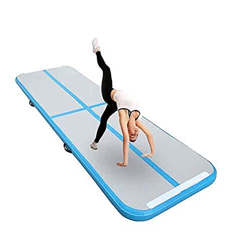 Opblaasbare Yogamat Gymnastiekmat PVC3 Meter Training Luchtkussen Algemeen Professioneel Sport Luchtkussen OEM,Blue,6 * 1 * 0.2
