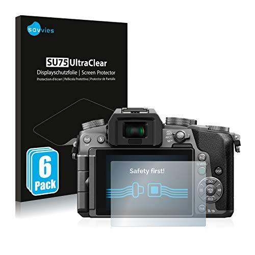 Savvies 6X Schutzfolie kompatibel mit Panasonic Lumix DMC-G70 Bildschirmschutz-Folie Ultra-transparent