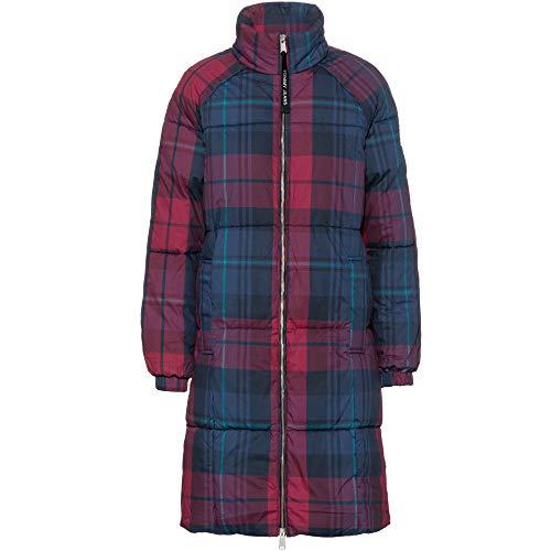 Tommy Jeans Damen TJW Check Puffa Coat Jacke, Blau (Blue 0M6), (Herstellergröße:S)