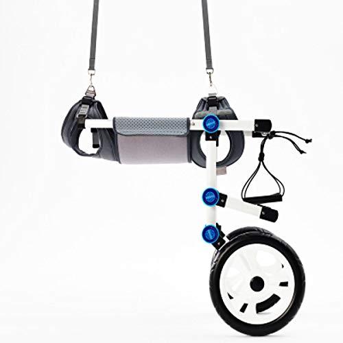 nikka(日華)ペット車椅子 2輪歩行器 介護ハーネスセット 後脚サポート 中型犬 大型犬リハビリ用 歩行補助 軽量 調節可能 ヘルニア けが Lサイズ