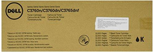 Dell W8D60 Toner Cartridge C3760N/C3760DN/C3765DNF Color Laser Printer, Black, 1 Size