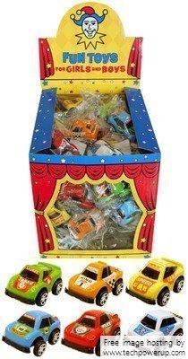 12 Mini Tirer Vers L'arrière Course Voitures - Remplissage de sacs à surprises jouets