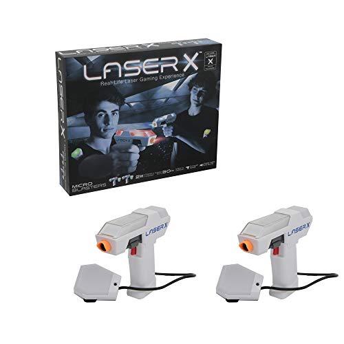 Giochi Preziosi Laser X Laser, Indoor e Outdoor, con 2 Pistole Laser, 2 ricevitori, Luci e Suoni