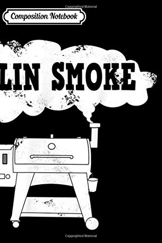 Composition Notebook: Funny Pellet Smoker BBQ Pit Grill for Meat Smoking Lover Journal/Notebook Blank Lined Ruled 6x9 100 Pages
