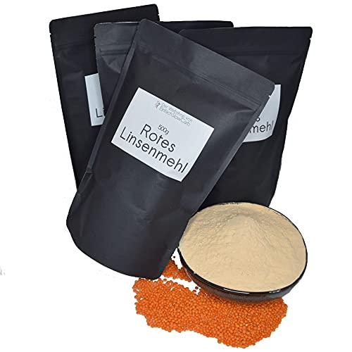 Rotes Linsenmehl 4 x 500g | Toller Mehlersatz | Vegan | Glutenfrei - EinfachSlowCarb