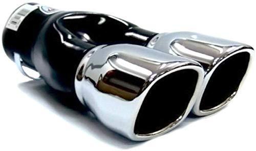 Boloromo 919 Universal Auspuff Blende Doppelrohr Endrohr Edelstahl Auspuffblende 54-73mm Ø Chrom