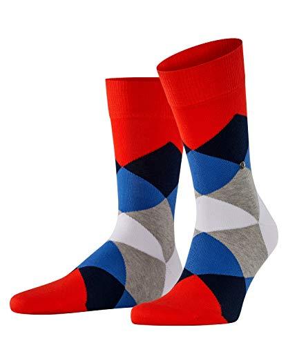 Burlington Herren Socken Clyde, Baumwolle, 1 Paar, Rosa (Peony-Dark Rock 8315), 40-46 (UK 6.5-11 Ι US 7.5-12)