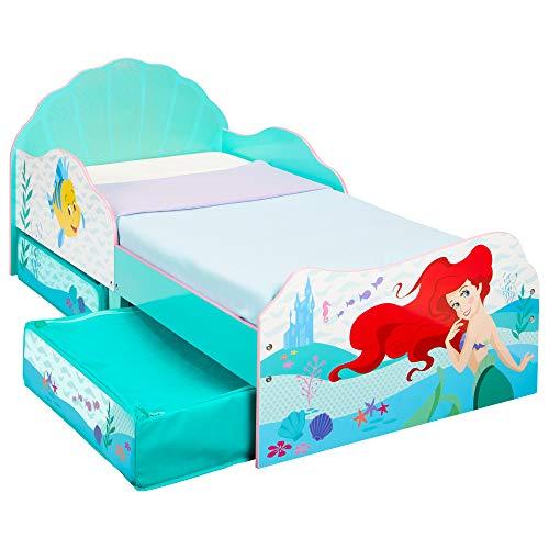 Princesas Disney Ariel - Cama Infantil para niños pequeños con cajón Inferior