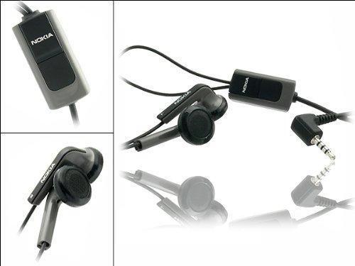 ORIGINAL NOKIA HS-47 STEREO HEADSET BLACK für Kompatibel mit 1650 5200 5300 5700 6110 6290 6300 7390 8600 E51 E66 E71 E90 N81 8GB