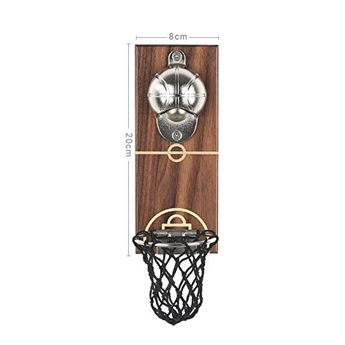Basketball Shot Bottle Opener with Pocket Wall Mounted Can Wine Beer Opener Magnet for Kitchen Gadget Bar Fridge Tool