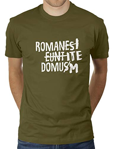Camiseta para hombre Romani ITE Domum de KaterLikoli verde oliva L