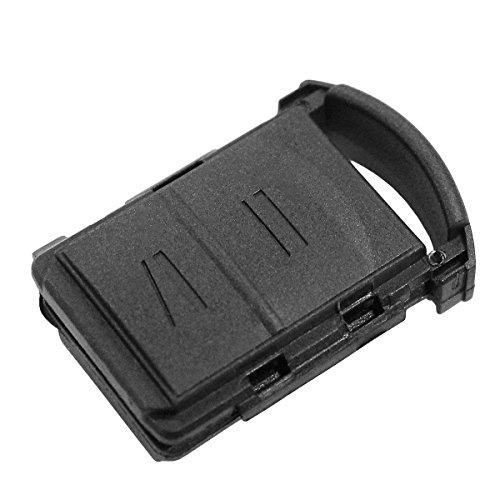 Schlüsselgehäuse Fernbedienung schwarz 2 Tasten Opel Corsa Astra Zafira Agila Tigra Meriva Combo CHIAVIT Ersatzteile Schlüssel Autoschlüssel Logo ohne Elektronik und Transponder