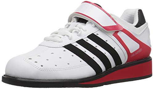 adidasG17563 - Power II Uomo, Bianco (Running White FTW/Black/Radiant Red), 39.5 EU