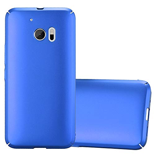 Cadorabo Hülle für HTC 10 (One M10) in Metall BLAU – Hardcase Handyhülle aus Plastik gegen Kratzer & Stöße – Schutzhülle Bumper Ultra Slim Back Hülle Hard Cover