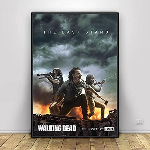 Lienzo de fotos 40x60cm Sin marco Película The Walking Dead Wall Art Posters Decoración para el hogar Imagen de pared