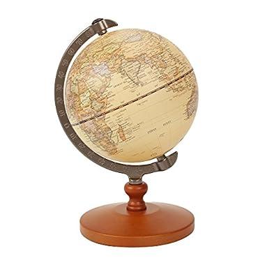VStoy Vintage Reference World Globe Home Work Decor Wedding Educational Gift 14cm/5.5 Inch