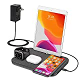 Wireless Charger, 4 in 1 Wireless Charge Station for iWatch ipad and iPhone Airpods Pro, Wireless Charging Pad for iPhone 11/11 Pro Max/X/XR/Xs/8 Plus iWatch Charger 5 4 3 2 1 Airpods 1 2