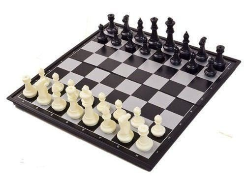 SHINE Large Magnetic Folding Chess Board Portable Set with Pieces Games Sport Camping Travel 32X32CM