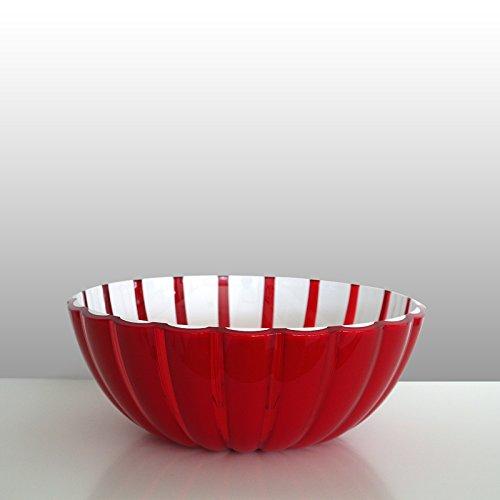 Guzzini Schale Grace rot-weiß, D ca. 30 cm