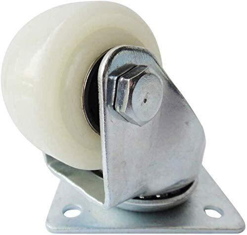 Ruedas de nailon reforzadas de 5 cm para ruedas de 50 mm de diámetro de 50 mm de carga, 70 kg, accesorios de una sola rueda (color: rueda universal)