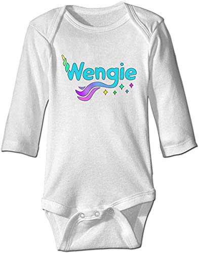 WlQshop Mono para Bebé,Mameluco Bebé Cute Baby Boys Girls Romper Bodysuit Wengie-Youtube Infant Kawaii Jumpsuit Outfit Long Sleeves