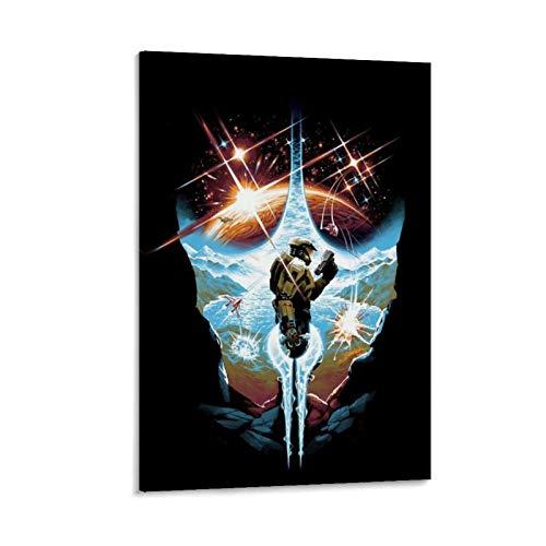 DRAGON VINES Halo The Master Chief Collection Comunidad Spartan Art - Póster decorativo para pared (50 x 75 cm)