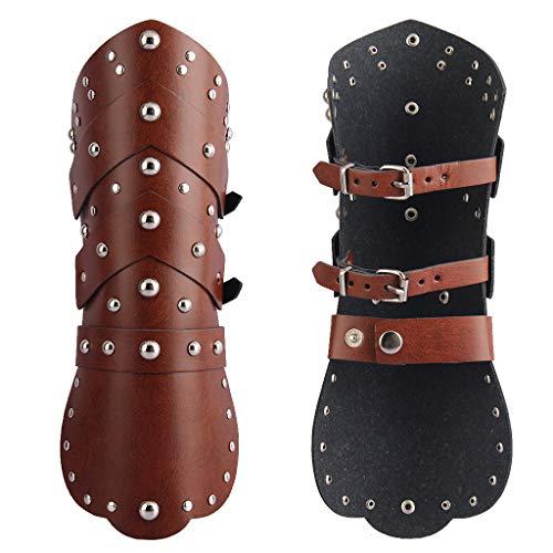 JAOYU Herren-Leder-Arm-Manschette, breite Leder-Manschetten, Totenkopf-Schmuck für Frauen, Jungen, Teenager, Geschenke - - Medium