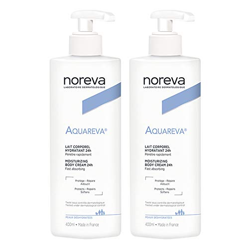 Noreva Aquareva 24H Moisturizing Body Cream 2 x 400ml by Noreva
