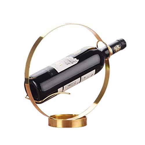Tenedor de botellas de vino apilable de vino - Botella y estante de almacenamiento de metal, ideal para barras, bodegas, armarios y despensas, elegante, decorativo, moderno y robusto (tamaño: 4 botell