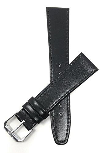 Extra Lang (XL) Leder Uhrenarmband 10mm, Schwarz, mit Naht, auch verfügbar in braun