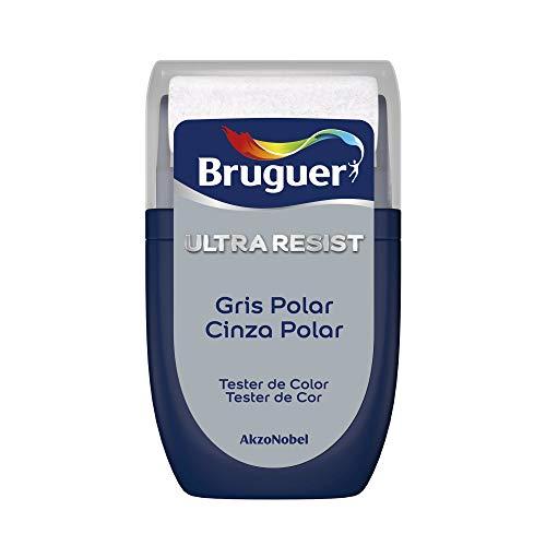Bruguer Tester ULTRA RESIST Pintura para paredes ultra lavable Gris Polar, gris perla, 30 mililitros