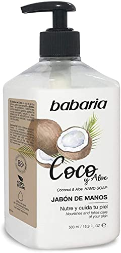 Babaria - Jabón De Manos de Coco&Aloe, Blanco, 500 ml