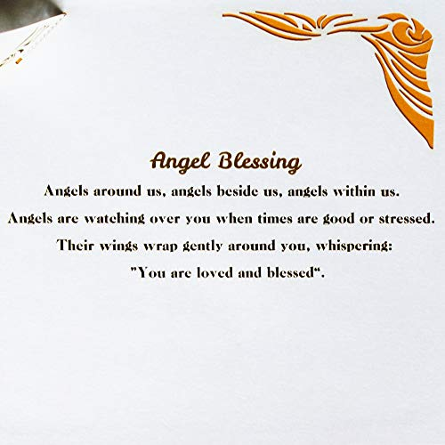 Dekali Designs Guardian Angel Pop up Card | 3D Angel Card for Christmas, Easter, Get Well Soon Card, Funeral, Bereavement, Memorial, Get Well Soon Card | Comes With Angel Blessing Inspirational Quote Photo #5