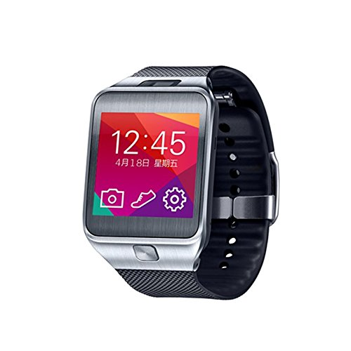 Carbuncle G2 Smart Bluetooth 4.0 Sync Waterproof Phone Watch with Camera Sport Pedometer Smartwatch for iOS iPhone Android Samsung HTC etc (Black and Gray)