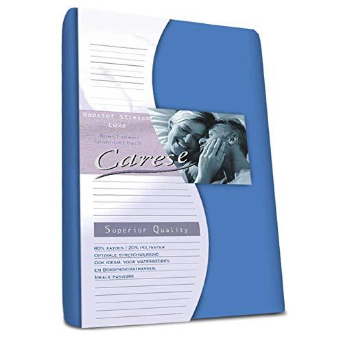 Luxe Badstof Hoeslaken - Stretch - Royal Blauw - 80x200 cm - Badstof - Carese - Voor Matrassen Tot 21 CM