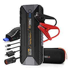 【POWERFUL YET COMPACT】KP200 is a special jump starter which with quad power supplies module on the market nowadays. With 2000A peak current, KP200 battery booster is much stronger than any other jump packs. It is supposed to start all GAS, not to men...