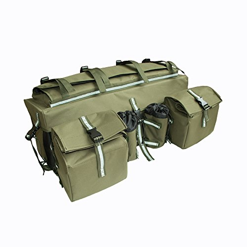 KKmoon ATV Tasche Gepäcktasche, ATV Fahrzeugtasche mit großer Kapazität, Quadkoffer Tasche kompatibel mit Motorrad, Go-Kart, Schneemobil, Mountainbike