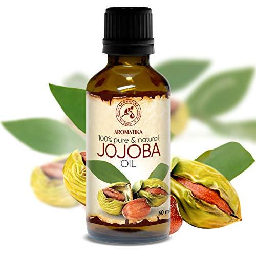 Aceite de Jojoba 50ml - Simmondsia Chinensis Seed Oil - Argentina - 100% Puro y Natural - Cuidado para el Rostro - Cuerpo - Cabello - Piel - uso Puro con Aceites Esenciales - Masaje - Cosmético