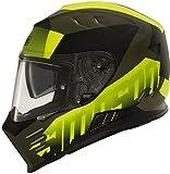 Simpson Venom Army Motorradhelm Schwarz/Gelb L