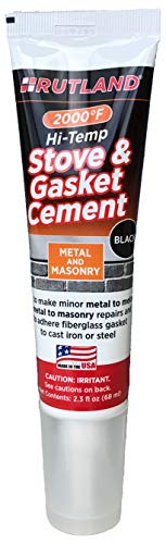 Rutland Products Rutland Stove Gasket Cement, 2.3-Ounce Tube, Black, 2 Fl Oz