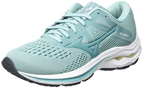 Mizuno Wave Inspire 17, Zapatillas para Correr Mujer, Eggshellb/Dustyt/Pastely, 28 EU