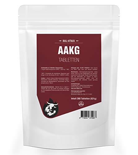 AAKG NOX-1500 | 360 Tabletten a 500mg | Vorratspackung | Reines A-AKG Arginin-Alpha-Ketoglutarat | Nitro + Pre-Workout Booster | Premium Qualität