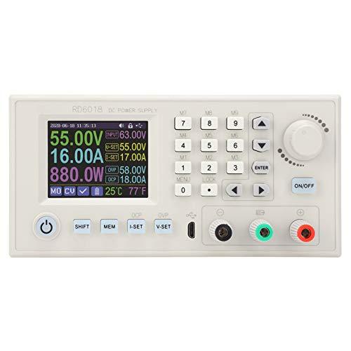 SALUTUYA Módulo Reductor CC-CC CNC, Fuente de alimentación conmutada CNC Ajustable RD6018, Adaptador de Fuente de alimentación regulada CC, módulo de Fuente de alimentación CC 6-70 V a 0-60 V(RD6018)