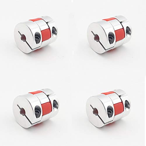 XBaofu 4Pcs CNC Motor Red Star BF Jaw Spinne Plum Wellenkupplungen Flexible Kupplung 5X5 5mm D25L30