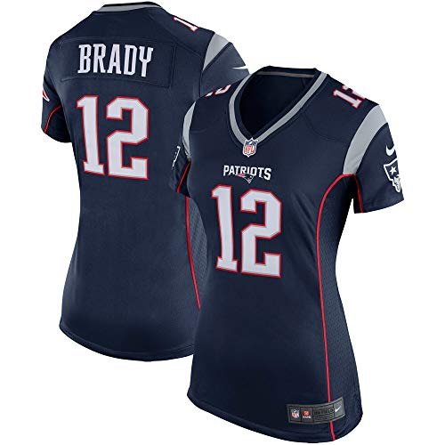 Nike Tom Brady New England Patriots NFL Girls Youth 8-20 Navy Home On-Field Jersey (Youth Large 14)