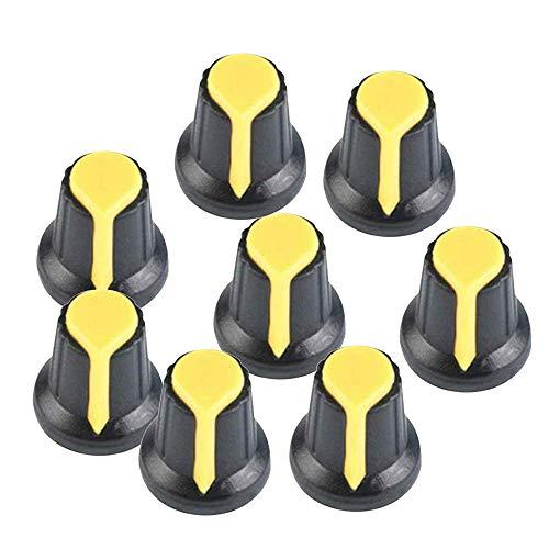 MEI 100 STÜCKE 6mm Schalter Potentiometer AG2 Kunststoffknopf Kappe Pflaume Griff LWL Verstärker