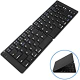 Macally Universal Foldable Bluetooth Keyboard - Portable Folding and Wireless - Works with Apple iPhone/iPad iOS, Android Tablets & Smartphones, Windows Laptop Computers, Smart Tvs, Etc